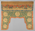 Asian:Chinese, A Chinese Kesi Silk Door Surround, late Ming-early Qing Dynasty. 36inches high x 37 inches wide (91.4 x 94.0 cm). PROVENA...
