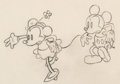 Animation Art:Production Drawing, Shanghaied Mickey Mouse and Minnie Mouse Animation Drawing(Walt Disney, 1934). ...