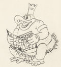 Animation Art:Production Drawing, Trader Mickey Native Chief Animation Drawing (Walt Disney,1932). ...