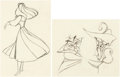 Animation Art:Production Drawing, Sleeping Beauty Briar Rose and Mock Prince Animals AnimationDrawings Group of 2 (Walt Disney, 1959). ... (Total: 2 )