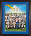 Autographs:Others, Negro League Greats Multi Signed Ron Lewis Lithograph. ...