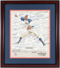 Autographs:Others, Negro League Multi-Signed Lithograph....