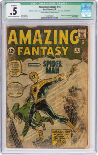 Amazing Fantasy #15 (Marvel, 1962) CGC Qualified PR 0.5 Cream to off-white pages