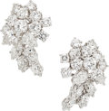 Estate Jewelry:Earrings, Diamond, Platinum, White Gold Earrings, Harry Winston. ...