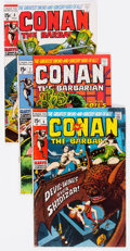 Bronze Age (1970-1979):Adventure, Conan the Barbarian Group of 52 (Marvel, 1971-76) Condition: Average VG.... (Total: 52 Comic Books)