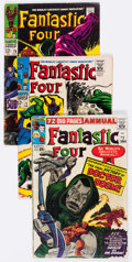 Silver Age (1956-1969):Superhero, Fantastic Four Short Box Group (Marvel, 1960s-70s) Condition: Average GD/VG....