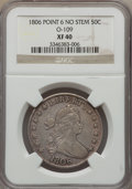 Early Half Dollars, 1806 50C Pointed 6, No Stem, O-109, T-15, R.1, XF40 NGC....
