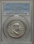 Early Half Dollars, 1795 50C 2 Leaves, O-125, T-13, R.4 -- Surfaces Smoothed -- PCGSGenuine. VF Detail....