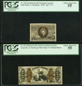 Fractional Currency:Third Issue, Four Different Fiber Paper Fractionals.. ... (Total: 4 notes)