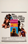 Memorabilia:Poster, Planet of the Apes Window Card (20th Century Fox, 1968)....