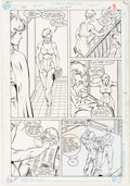 Original Comic Art:Panel Pages, Keith Giffen, Marshall Rogers, and Joe Rubinstein Justice LeagueEurope #21 Story Pages 6-7 Original Art (DC, 1990... (Total: 2Original Art)