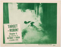 Memorabilia:Poster, New Adventures of Batman and Robin Chapter 6: Target -Robin! Lobby Card (Columbia, 1949)....
