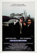 """Memorabilia:Poster, The Blues Brothers Linen-Backed Movie Poster InternationalEdition (Universal, 1980). One Sheet (27"""" X 41"""")...."""
