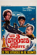 Memorabilia:Poster, The Three Stooges in Orbit Belgian Poster (Columbia,1962)....
