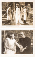Memorabilia:Movie-Related, Bride of Frankenstein Primary-Source Movie Stills Set of 2(Universal Studios, 1935)....