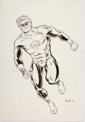 Original Comic Art:Splash Pages, Richard Howell - Green Lantern Pin-Up Illustration Original Art(1990)....