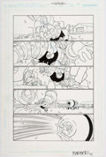Original Comic Art:Panel Pages, Carlo Barberi Justice League Unlimited #16 Page 16 Original Art (DC, 2006)....