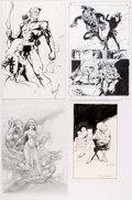 Original Comic Art:Illustrations, Mike Ploog, Paul Chadwick, Will Meugniot, and Others - Illustration Original Art Group of 5 (1989-2000s).... (Total: 5 Original Art)