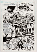 Original Comic Art:Splash Pages, Grant Miehm and Terry Beatty Secret Origins #45 Splash Page22 Original Art (DC, 1989)....