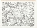 Original Comic Art:Splash Pages, Bruce Zick Atomic Legion Double-Page Splash Pages #102-103Original Art (Dark Horse, 2014)....