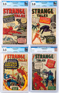 Silver Age (1956-1969):Science Fiction, Strange Tales CGC-Graded Group of 4 (Marvel, 1963).... (Total: 4 Comic Books)