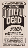 Memorabilia:Poster, Randy Tuten The Grateful Dead Concert Poster (Campaign forEconomic Democracies, 1968)....