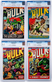 The Incredible Hulk CGC-Graded Group of 4 (Marvel, 1972-74).... (Total: 4 Comic Books)