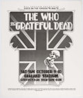 Memorabilia:Poster, Days on the Green: The Who and the Grateful Dead Poster (BillGraham Productions, 1983)....
