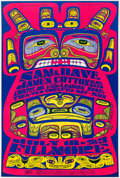 Memorabilia:Poster, Bonnie MacLean - Sam & Dave, James Cotton, Country Joe, andLoading Zone Concert Poster (Bill Graham Productions,1967)....