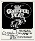 Memorabilia:Poster, Randy Tuten and Gary Gutierrez An Evening with the GratefulDead Concert Poster (Bill Graham Productions and Round...