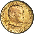Commemorative Gold, 1922 G$1 Grant Gold Dollar, With Star, MS67 PCGS....