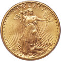 Saint-Gaudens Double Eagles, 1908-D $20 Motto MS64+ PCGS....