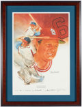 Autographs:Others, Stan Musial Signed Lithograph....
