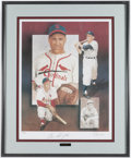 Autographs:Others, Enos Slaughter Signed Lithograph. ...