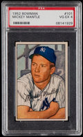 Baseball Cards:Singles (1950-1959), 1952 Bowman Mickey Mantle #101 PSA VG-EX 4....