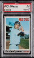 Baseball Cards:Singles (1970-Now), 1970 Topps Carl Yastrzemski #10 PSA Mint 9....