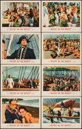 "Movie Posters:Adventure, Mutiny on the Bounty (MGM, 1962). Lobby Card Set of 8 (11"" X 14"").Adventure.. ... (Total: 8 Items)"