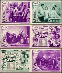 """Don Winslow of the Coast Guard (Universal, 1943). Title Lobby Cards (2) & Lobby Cards (4) (11"""" X 14"""")..."""