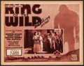 """Movie Posters:Serial, King of the Wild (Mascot, 1931). Title Lobby Card (11"""" X 14"""").Chapter 9 -- """"The Door of Dread."""" Serial.. ..."""