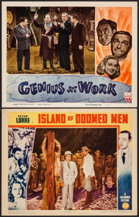 """Island of Doomed Men & Other Lot (Columbia, 1940). Lobby Cards (2) (11"""" X 14""""). Thriller. ... (Total:..."""