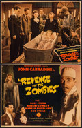 "Movie Posters:Horror, Revenge of the Zombies (Monogram, 1943). Trimmed Title Lobby Card& Lobby Card (10"" X 13""). Horror.. ... (Total: 2 Items)"