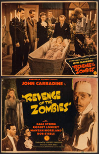 """Revenge of the Zombies (Monogram, 1943). Trimmed Title Lobby Card & Lobby Card (10"""" X 13""""). Horror..."""