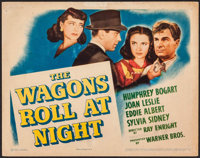 """The Wagons Roll at Night (Warner Brothers, 1941). Title Lobby Card (11"""" X 14""""). Drama"""