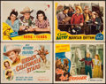 """Movie Posters:Western, Under California Stars & Others Lot (Republic, 1948). TitleLobby Card & Lobby Cards (3) (11"""" X 14""""). Western.. ......"""