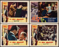 "Movie Posters:Horror, The Mad Magician & Other Lot (Columbia, 1954). Lobby Cards (4)(11"" X 14""). Horror.. ... (Total: 4 Items)"