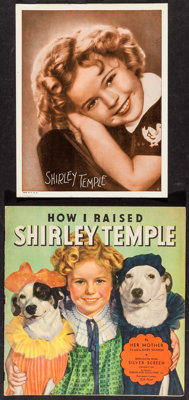 """How I Raised Shirley Temple & Other Lot (Saalfield Publishing, 1935). Book (40 Pages, 9.5"""" X 10"""") &..."""