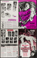 """Movie Posters:Horror, The Mummy's Ghost & Other Lot (Realart, R-1948). UncutPressbooks (2) (4 Pages, 11"""" X 17""""). Horror.. ... (Total: 2 ..."""