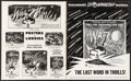 """Movie Posters:Science Fiction, The War of the Worlds (Paramount, 1953). Uncut Pressbook (20 Pages,12.25"""" X 15""""). Science Fiction.. ..."""