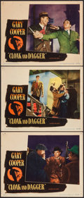 """Movie Posters:Thriller, Cloak and Dagger (Warner Brothers, 1946). Lobby Cards (3) (11"""" X14""""). Thriller.. ... (Total: 3 Items)"""