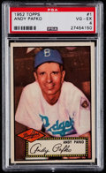 Baseball Cards:Singles (1950-1959), 1952 Topps Andy Pafko (Red Back) #1 PSA VG-EX 4....